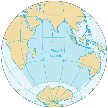 [Country map of Indian Ocean]