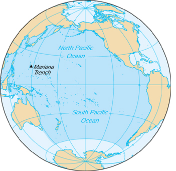 [Country map of Pacific Ocean]